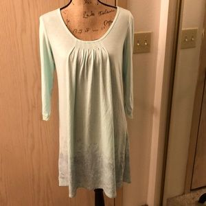 3/4 sleeves nightgown with pleated top